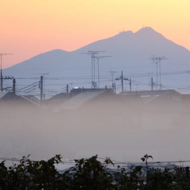 今朝の筑波山 2015.11.1