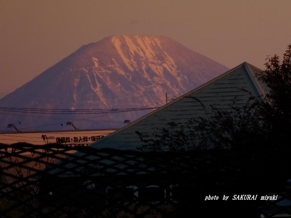 初冠雪の男体山  2015.11.27