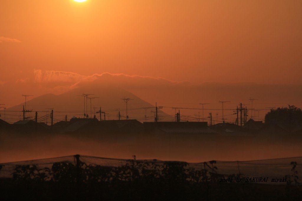 朝の筑波山 2015.10.13