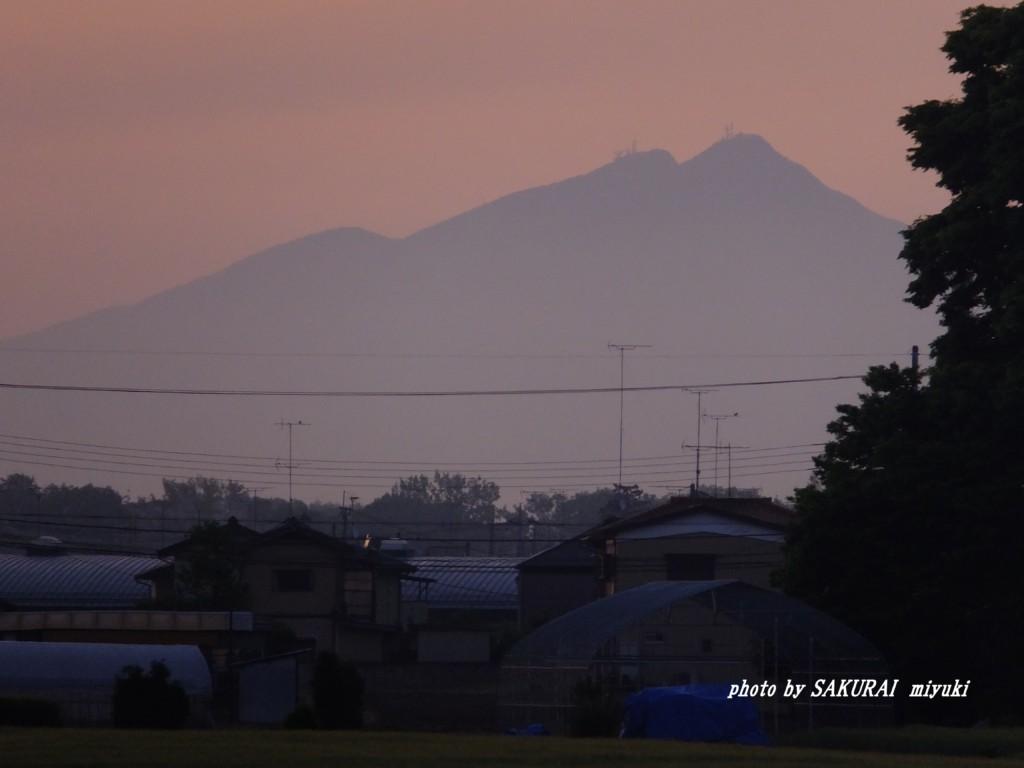 今朝の筑波山  2015.4.30