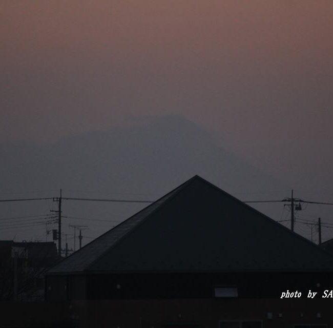 今朝の筑波山 2015.1.17