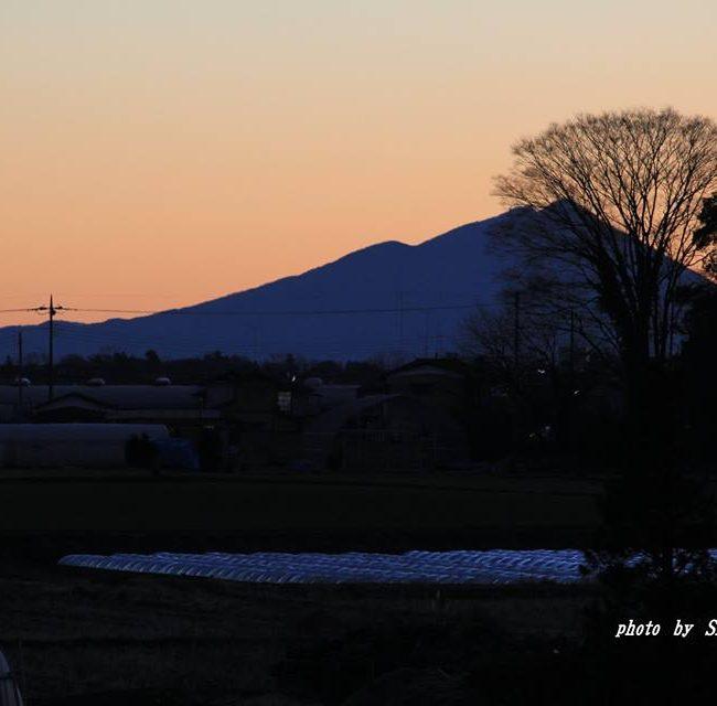 今朝の筑波山 2015.1.18
