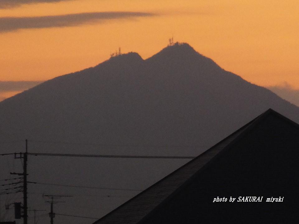 今朝の筑波山 2015.1.19