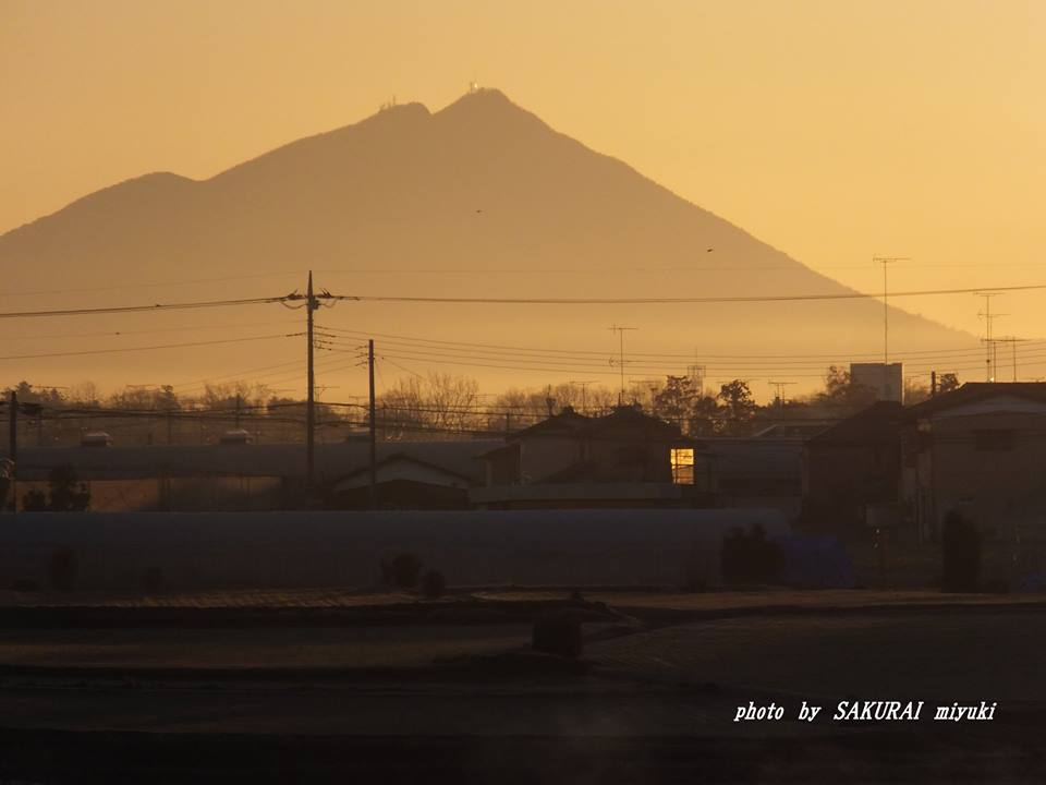 今朝の筑波山 2015.1.24