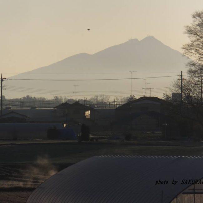 今朝の筑波山 2015.1.29