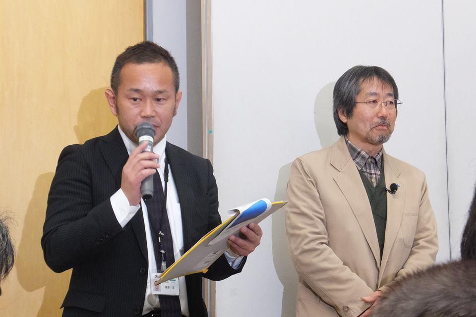 小山市役所篠原さんと バードリサーチの平野さん