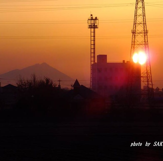 今朝の筑波山 2015.2.13