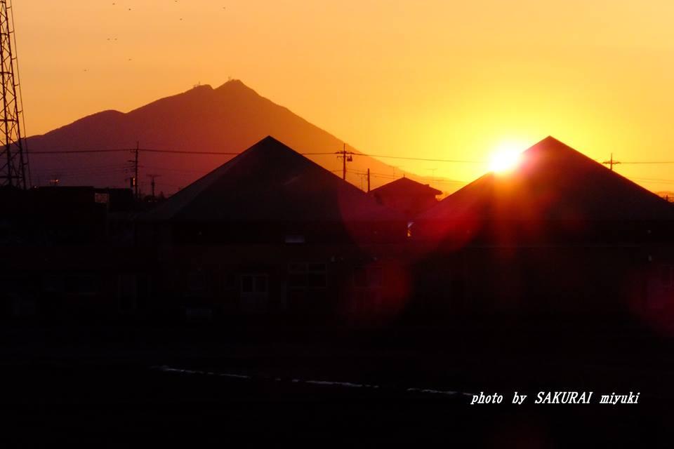 今朝の筑波山 2015.2.14