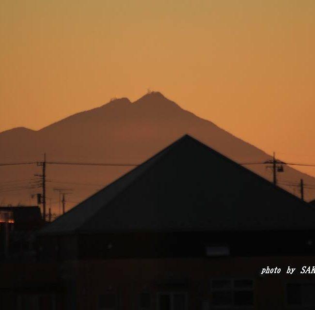 今朝の筑波山 2014.12.6