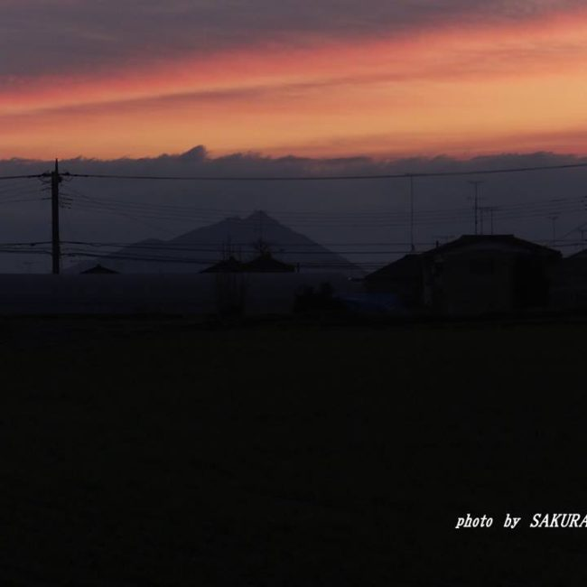 今朝の筑波山 2014.12.8