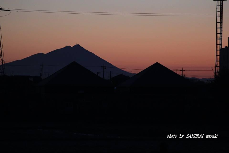 今朝の筑波山 2014.12.10