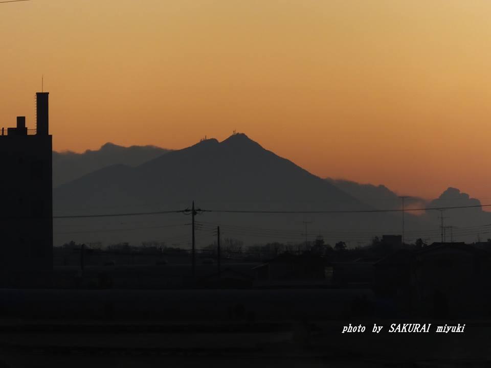今朝の筑波山 2014.12.13