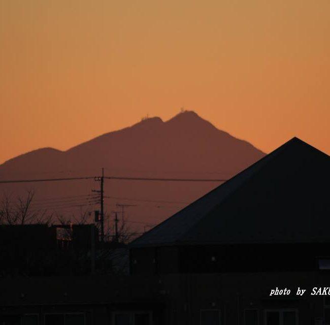 今朝の筑波山 2014.12.14