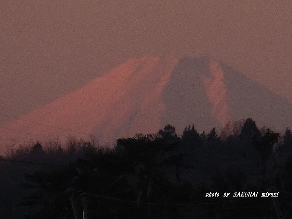 赤富士 2014.12.19
