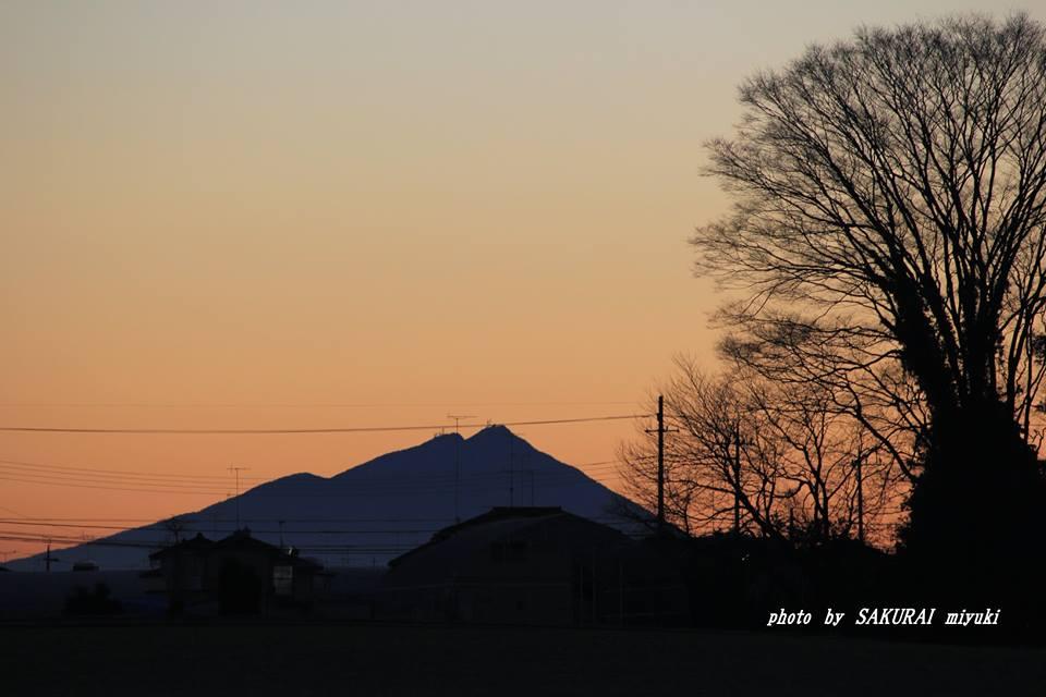 今朝の筑波山 2014.12.26
