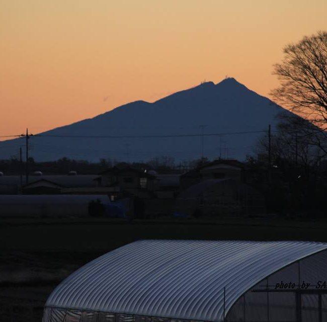今朝の筑波山 2014.12.27