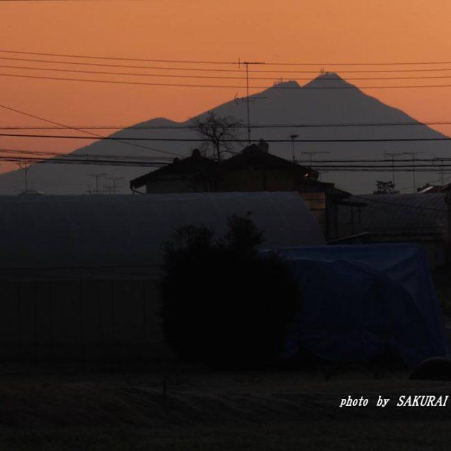 今朝の筑波山 2014.12.28