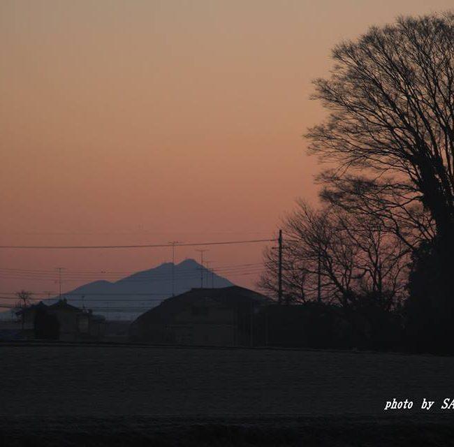 今朝の筑波山 2014.12.31