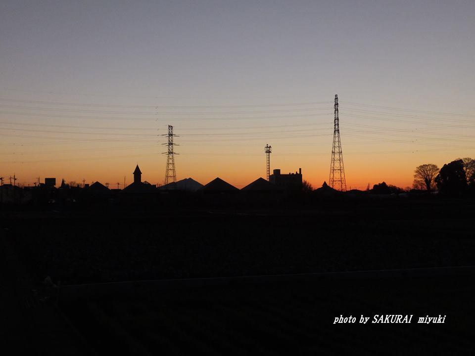 今朝の筑波山 2015.1.8