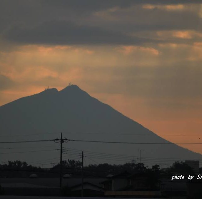今朝の筑波山 2014.10.9
