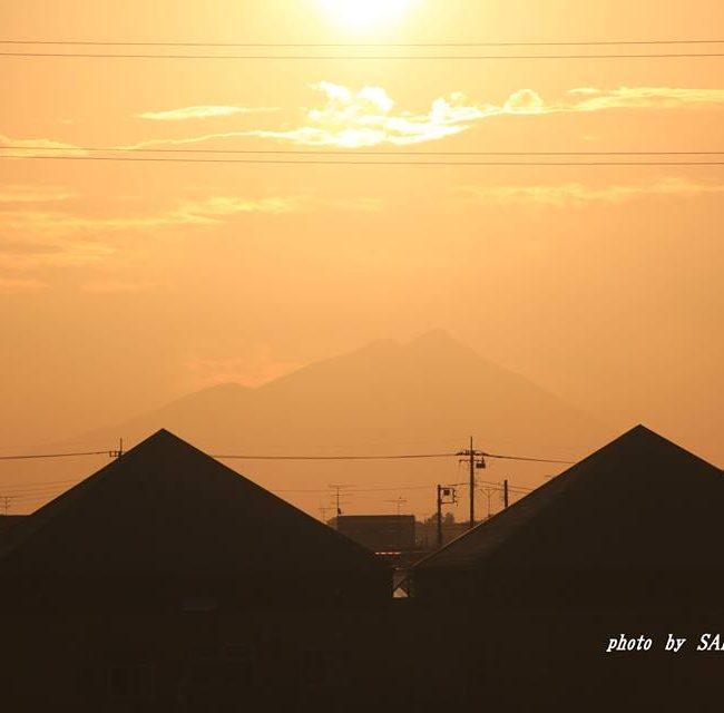 今朝の筑波山 2014.10.15
