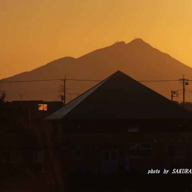 今朝の筑波山 2014.11.7