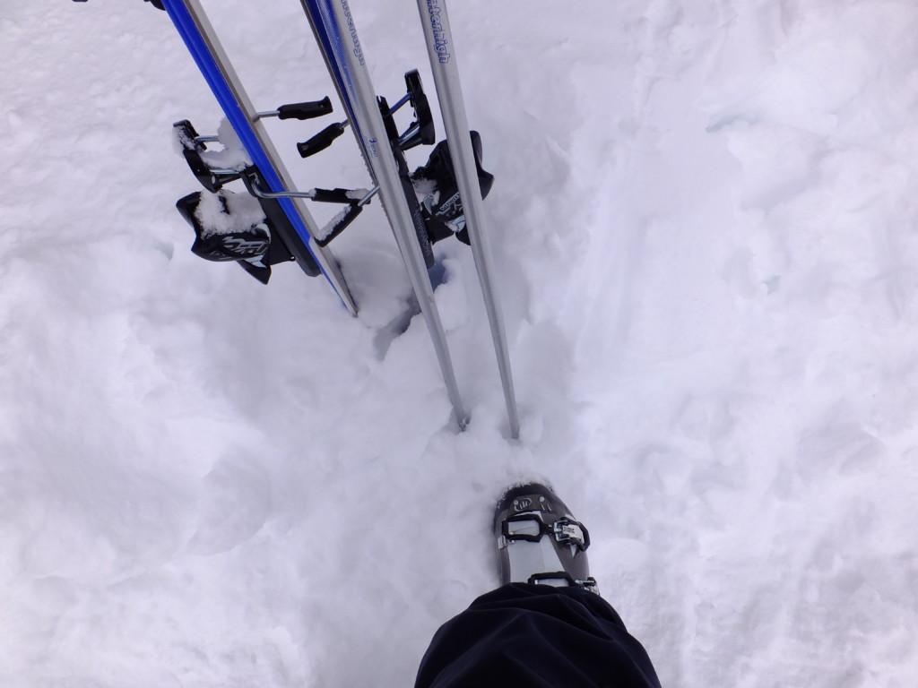レンタルしたスキーセット