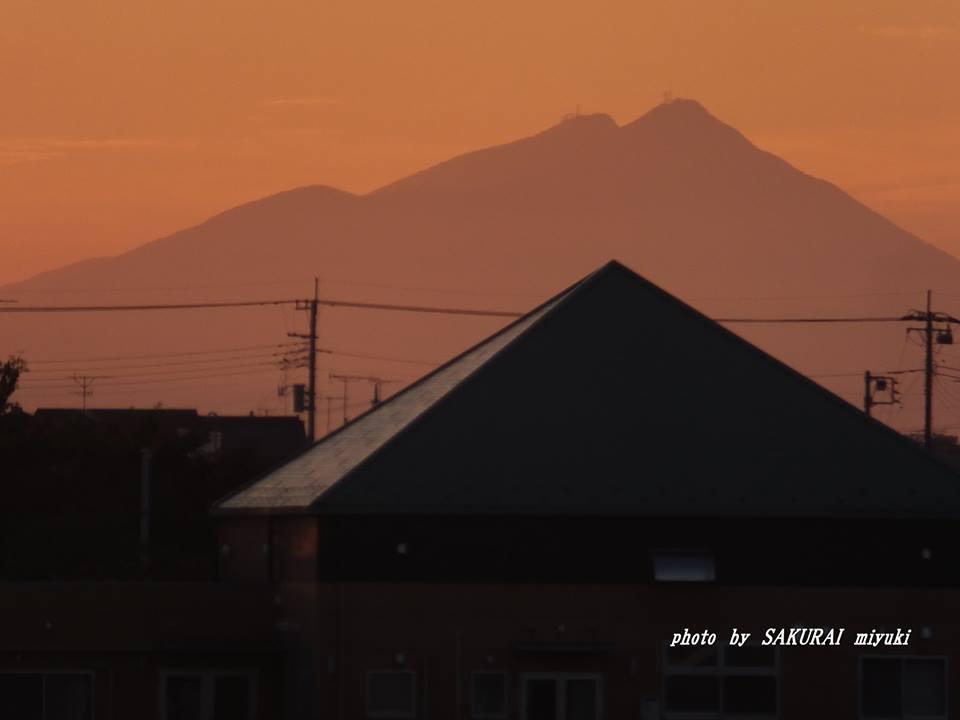 今朝の筑波山 2014.9.21
