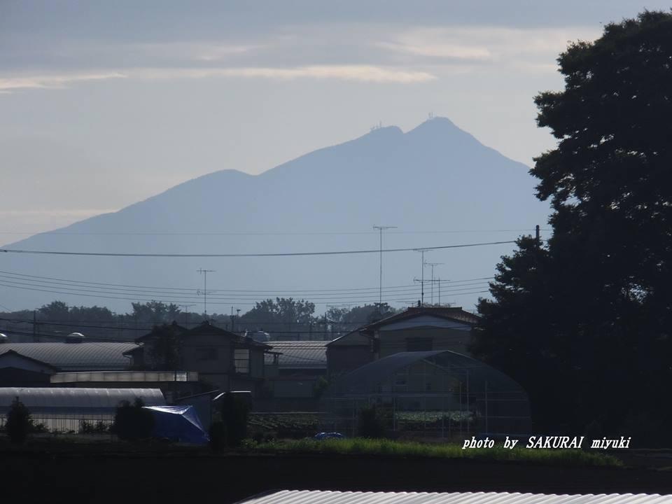 今朝の筑波山 2014.9.26