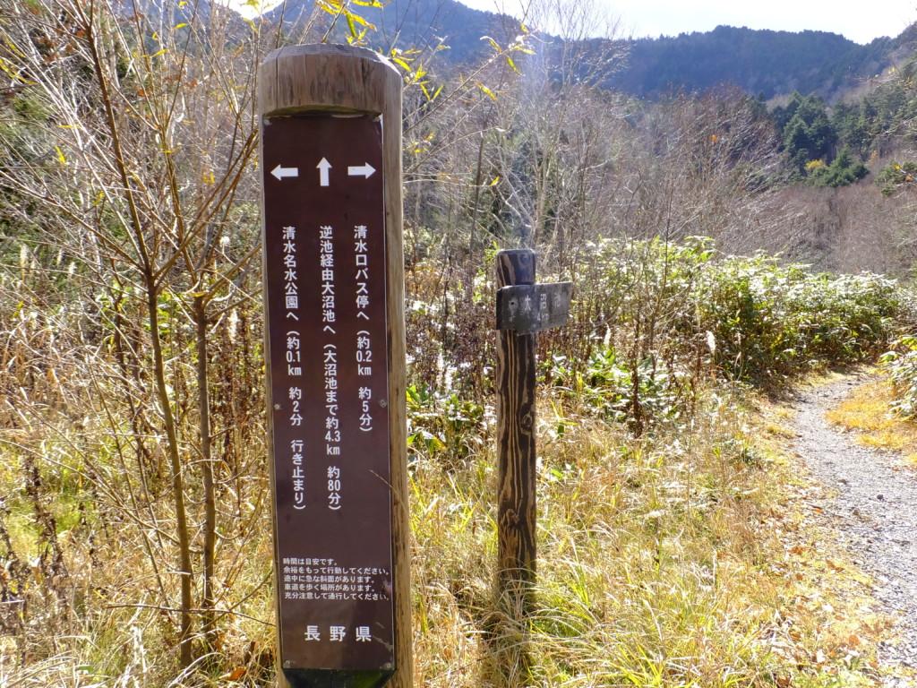 登山道 入口 2016.11.1