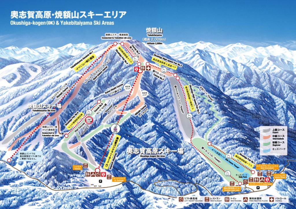 奥志賀高原スキー場マップ