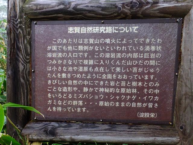 自然研究路説明板