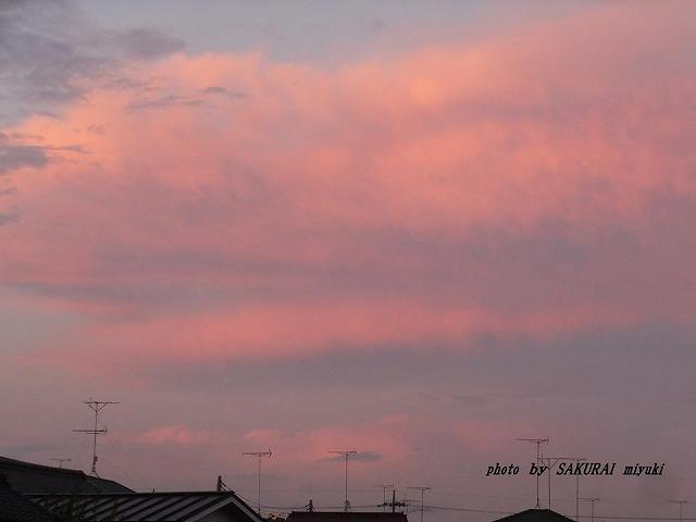 夕焼け 2014.6.25