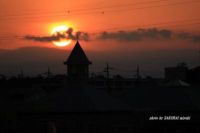 今朝の太陽
