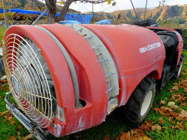 りんご農薬の散布機 スピードスプレイヤー