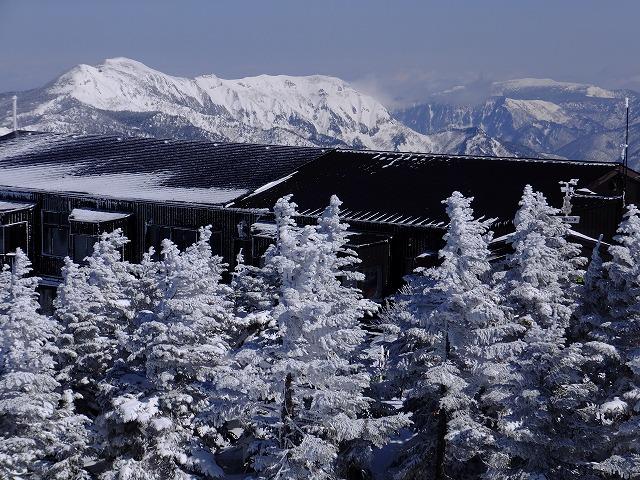 横手山展望台から岩菅山 2020.2.24
