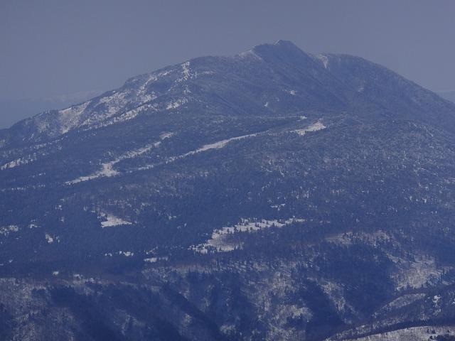 横手山展望台から四阿山(あずまやさん)2020.2.24