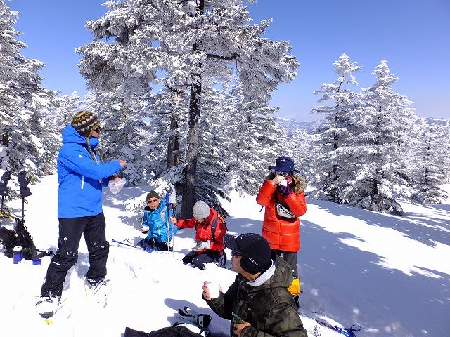 雪野原でティータイム 2020.2.24