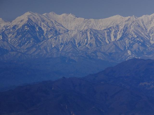 蓮華岳周辺の山々 2020.3.9 西館山より