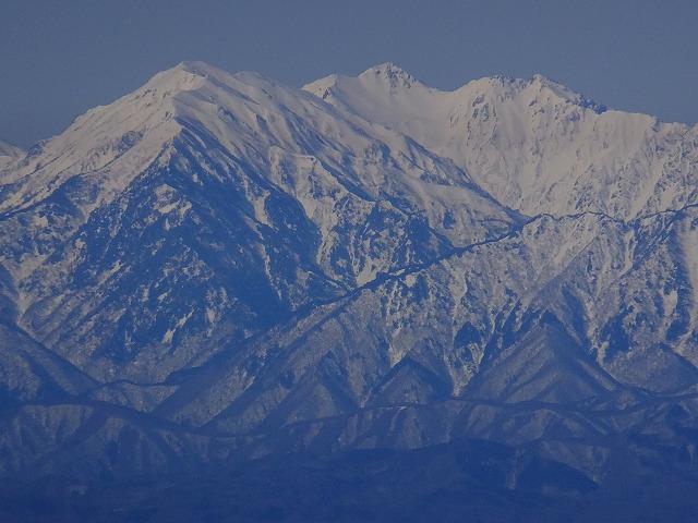 左から蓮華岳、針ノ木岳、スバリ岳 2020.3.9 西館山より