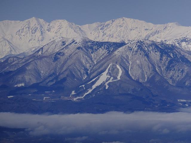 白馬三山と飯縄山 西館山より