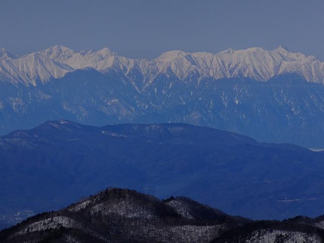 左:穂高連峰~右:槍ヶ岳、 2020.3.9 西館山より
