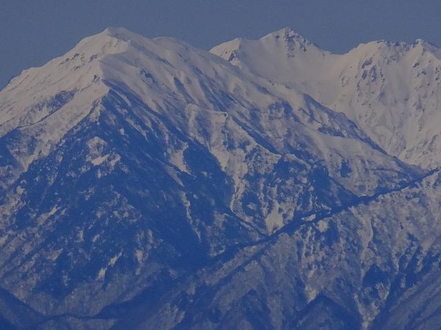 左から蓮華岳、針ノ木岳、スバリ岳 2020.3.9 東館山より