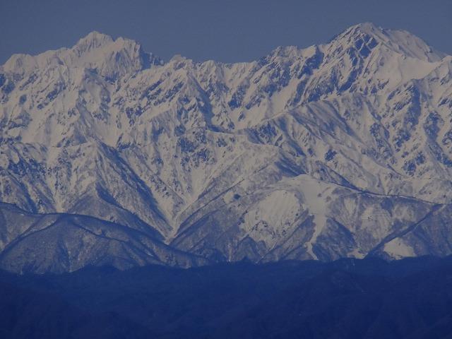剱岳と五竜岳(右) 2020.3.9 東館山より