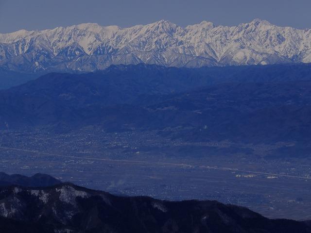 右から五竜岳、剱岳、鹿島槍ヶ岳、(立山)、爺が岳 2020.3.9 東館山より