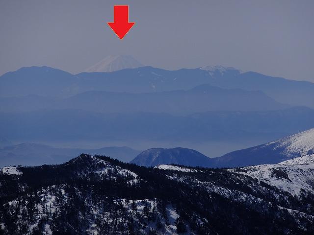 富士山 2021.3.18 横手山頂展望台から