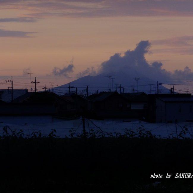 今朝の筑波山  2015.6.22