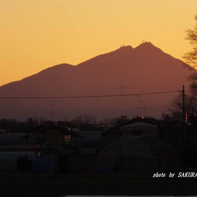 今朝の筑波山 2015.1.12