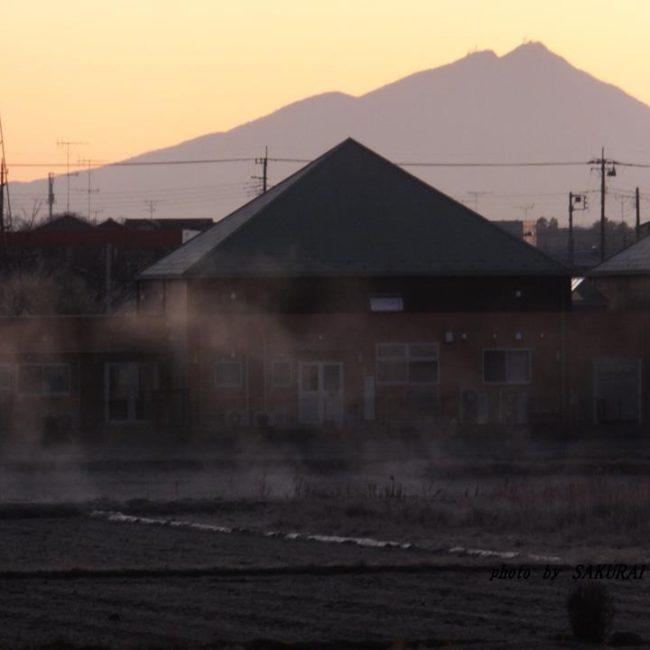 今朝の筑波山 2015.1.14