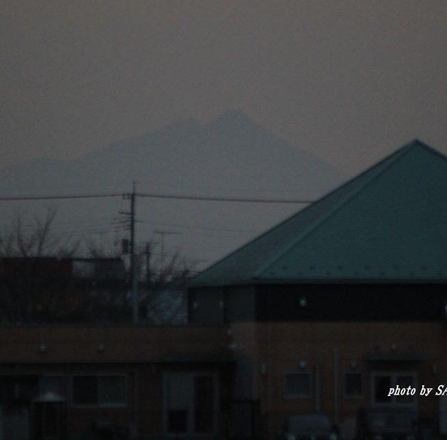 今朝の筑波山 2015.1.15